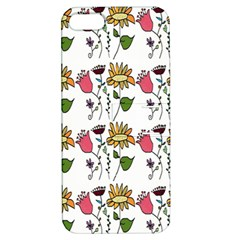 Handmade Pattern With Crazy Flowers Apple Iphone 5 Hardshell Case With Stand by Simbadda