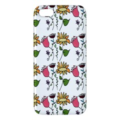 Handmade Pattern With Crazy Flowers Iphone 5s/ Se Premium Hardshell Case