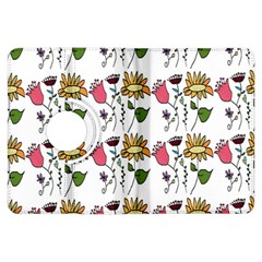 Handmade Pattern With Crazy Flowers Kindle Fire Hdx Flip 360 Case by Simbadda