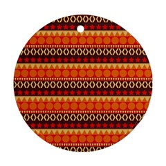 Abstract Lines Seamless Pattern Round Ornament (two Sides) by Simbadda
