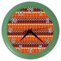 Abstract Lines Seamless Pattern Color Wall Clocks by Simbadda