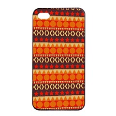Abstract Lines Seamless Pattern Apple Iphone 4/4s Seamless Case (black) by Simbadda