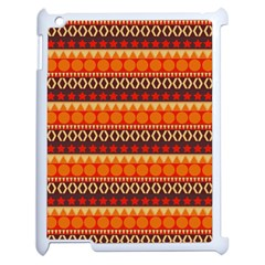 Abstract Lines Seamless Pattern Apple Ipad 2 Case (white) by Simbadda