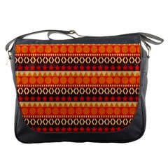 Abstract Lines Seamless Pattern Messenger Bags by Simbadda