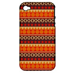 Abstract Lines Seamless Pattern Apple Iphone 4/4s Hardshell Case (pc+silicone) by Simbadda