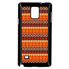 Abstract Lines Seamless Pattern Samsung Galaxy Note 4 Case (black) by Simbadda