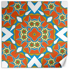 Digital Computer Graphic Geometric Kaleidoscope Canvas 16  X 16   by Simbadda