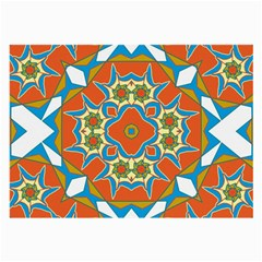 Digital Computer Graphic Geometric Kaleidoscope Large Glasses Cloth by Simbadda
