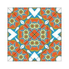Digital Computer Graphic Geometric Kaleidoscope Acrylic Tangram Puzzle (6  X 6 ) by Simbadda