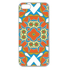 Digital Computer Graphic Geometric Kaleidoscope Apple Seamless Iphone 5 Case (clear) by Simbadda
