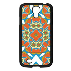 Digital Computer Graphic Geometric Kaleidoscope Samsung Galaxy S4 I9500/ I9505 Case (black) by Simbadda