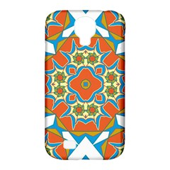Digital Computer Graphic Geometric Kaleidoscope Samsung Galaxy S4 Classic Hardshell Case (pc+silicone) by Simbadda