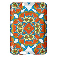 Digital Computer Graphic Geometric Kaleidoscope Kindle Fire Hdx Hardshell Case by Simbadda