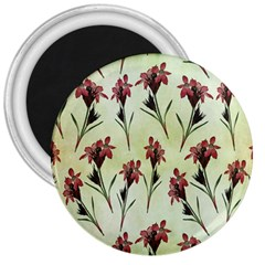 Vintage Style Seamless Floral Wallpaper Pattern Background 3  Magnets by Simbadda