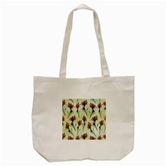 Vintage Style Seamless Floral Wallpaper Pattern Background Tote Bag (cream) by Simbadda