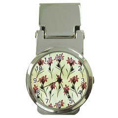 Vintage Style Seamless Floral Wallpaper Pattern Background Money Clip Watches by Simbadda