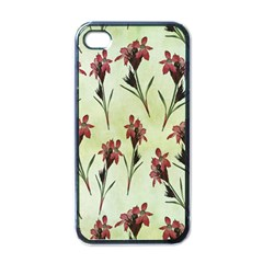 Vintage Style Seamless Floral Wallpaper Pattern Background Apple Iphone 4 Case (black) by Simbadda