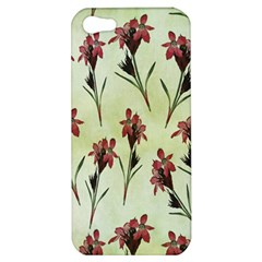 Vintage Style Seamless Floral Wallpaper Pattern Background Apple Iphone 5 Hardshell Case by Simbadda