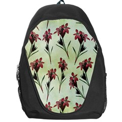 Vintage Style Seamless Floral Wallpaper Pattern Background Backpack Bag by Simbadda