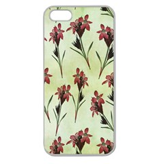 Vintage Style Seamless Floral Wallpaper Pattern Background Apple Seamless Iphone 5 Case (clear) by Simbadda