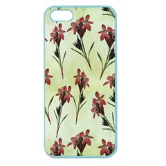 Vintage Style Seamless Floral Wallpaper Pattern Background Apple Seamless Iphone 5 Case (color) by Simbadda