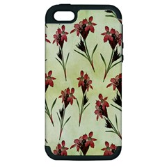 Vintage Style Seamless Floral Wallpaper Pattern Background Apple Iphone 5 Hardshell Case (pc+silicone) by Simbadda