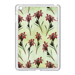 Vintage Style Seamless Floral Wallpaper Pattern Background Apple Ipad Mini Case (white) by Simbadda