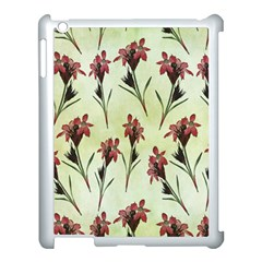 Vintage Style Seamless Floral Wallpaper Pattern Background Apple Ipad 3/4 Case (white) by Simbadda