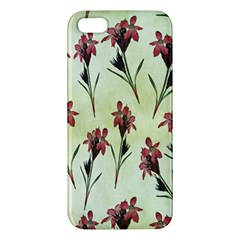 Vintage Style Seamless Floral Wallpaper Pattern Background Apple Iphone 5 Premium Hardshell Case by Simbadda
