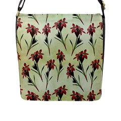 Vintage Style Seamless Floral Wallpaper Pattern Background Flap Messenger Bag (l)  by Simbadda
