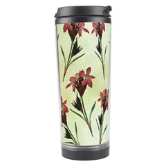 Vintage Style Seamless Floral Wallpaper Pattern Background Travel Tumbler by Simbadda