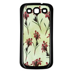 Vintage Style Seamless Floral Wallpaper Pattern Background Samsung Galaxy S3 Back Case (black) by Simbadda