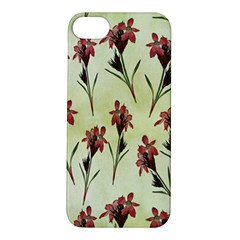 Vintage Style Seamless Floral Wallpaper Pattern Background Apple Iphone 5s/ Se Hardshell Case by Simbadda