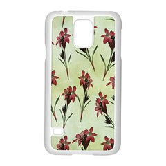 Vintage Style Seamless Floral Wallpaper Pattern Background Samsung Galaxy S5 Case (white) by Simbadda