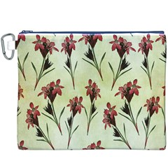 Vintage Style Seamless Floral Wallpaper Pattern Background Canvas Cosmetic Bag (xxxl) by Simbadda