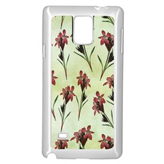 Vintage Style Seamless Floral Wallpaper Pattern Background Samsung Galaxy Note 4 Case (white)