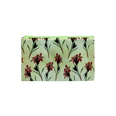 Vintage Style Seamless Floral Wallpaper Pattern Background Cosmetic Bag (xs) by Simbadda