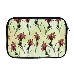 Vintage Style Seamless Floral Wallpaper Pattern Background Apple Macbook Pro 17  Zipper Case by Simbadda