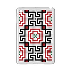 Vintage Style Seamless Black, White And Red Tile Pattern Wallpaper Background Ipad Mini 2 Enamel Coated Cases by Simbadda