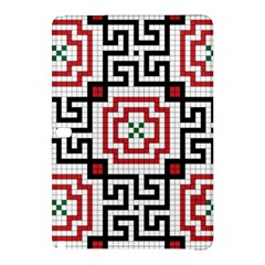 Vintage Style Seamless Black, White And Red Tile Pattern Wallpaper Background Samsung Galaxy Tab Pro 12 2 Hardshell Case