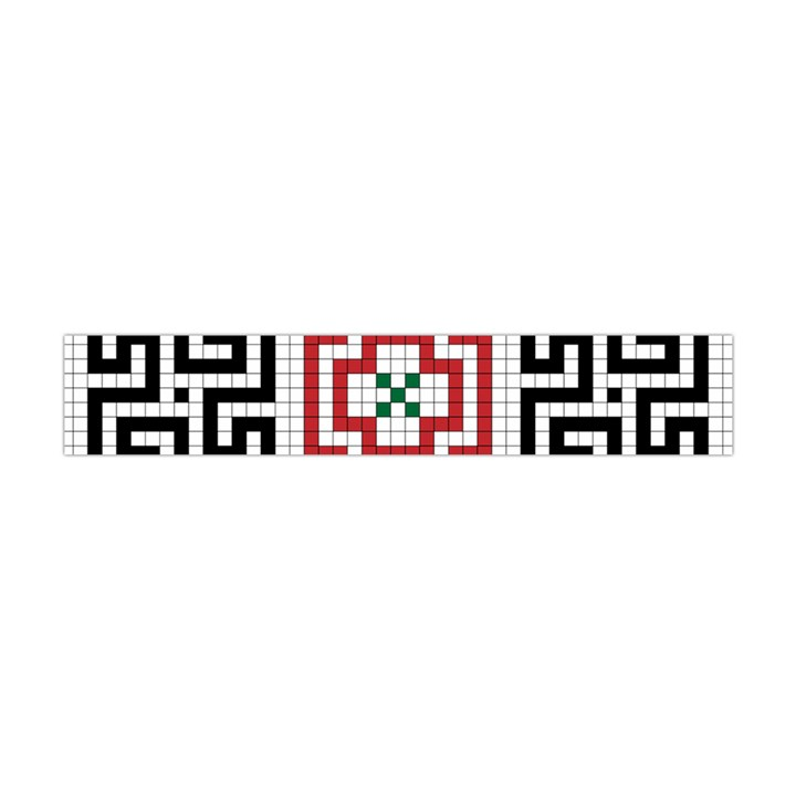 Vintage Style Seamless Black, White And Red Tile Pattern Wallpaper Background Flano Scarf (Mini)