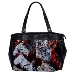 Wooden Hot Ashes Pattern Office Handbags by Simbadda
