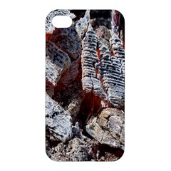 Wooden Hot Ashes Pattern Apple Iphone 4/4s Hardshell Case by Simbadda