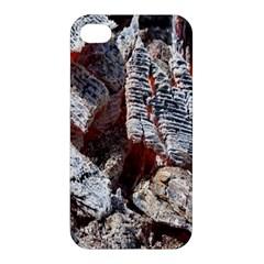 Wooden Hot Ashes Pattern Apple Iphone 4/4s Premium Hardshell Case by Simbadda