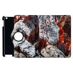 Wooden Hot Ashes Pattern Apple Ipad 2 Flip 360 Case by Simbadda