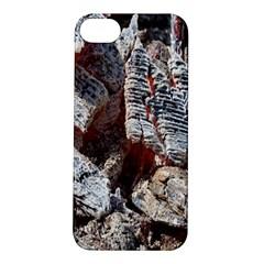 Wooden Hot Ashes Pattern Apple Iphone 5s/ Se Hardshell Case by Simbadda