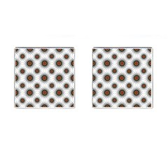 Pearly Pattern Half Tone Background Cufflinks (square) by Simbadda