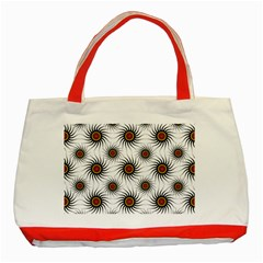 Pearly Pattern Half Tone Background Classic Tote Bag (red) by Simbadda