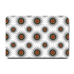 Pearly Pattern Half Tone Background Small Doormat  by Simbadda