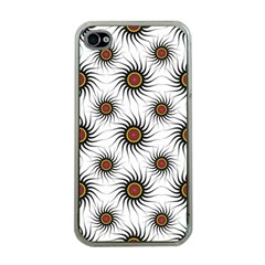 Pearly Pattern Half Tone Background Apple Iphone 4 Case (clear) by Simbadda